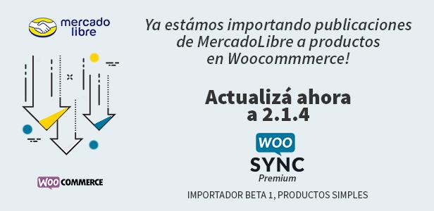 WooSync - Conecta Woocommerce con MercadoLibre 2